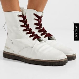 Golden Goose Distressed Limited Ed Combat Boots 36